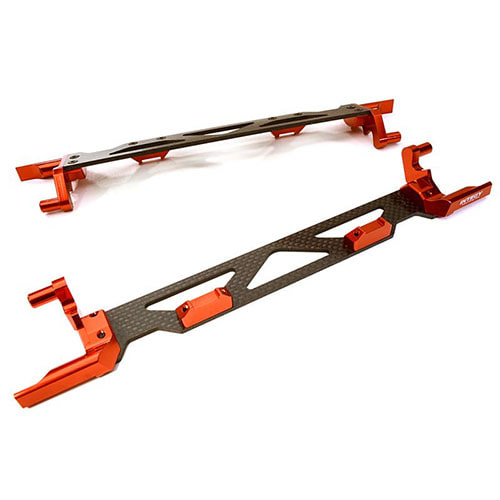 하비몬[#C26878RED] Machined Alloy & Composite Battery Hold-Down Plate for Traxxas X-Maxx 4X4 (Red)[상품코드]INTEGY