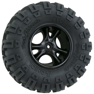 "하비몬""Clawz"" 2-2"" Narrow Rock Crawler Wheels (Black) (2)[상품코드]RPM"