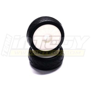 하비몬1/8 Buggy Dish Wheel+Tire (2) V-Pattern 17mm (O.D.=105mm) (White)[상품코드]INTEGY