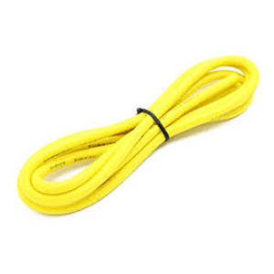 하비몬High Quality 12AWG Silicone Wire 1m (Yellow)[상품코드]TURNIGY