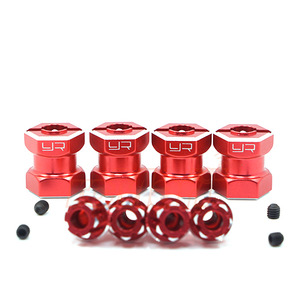 하비몬Aluminum Hex Adaptor 15mm Offset For 12mm Hex Wheels Red 4pcs[상품코드]YEAH RACING