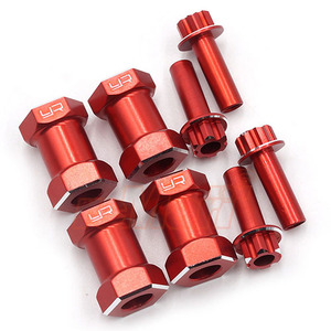 하비몬Aluminum Hex Adaptor 20mm Offset For 12mm Hex Wheels Red 4pcs[상품코드]YEAH RACING