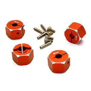하비몬12mm Hex Wheel (4) Hub 9mm Thick for 1/10 Traxxas, Axial, Tamiya, TC & Drift (Red)[상품코드]INTEGY
