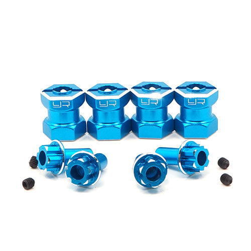 하비몬Aluminum Hex Adaptor 15mm Offset For 12mm Hex Wheels Blue 4pcs[상품코드]YEAH RACING