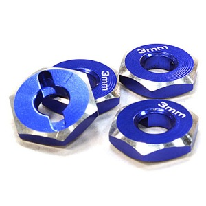하비몬12mm Hex Wheel (4) Hub 3mm Thick for 1/10 Axial, Tamiya, TC & Drift (Blue)[상품코드]INTEGY