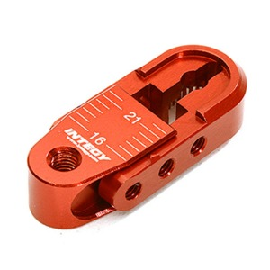 하비몬Alloy Adjustable Length Steering Servo Horn 25T for Traxxas TRX-4 (r=16-21mm) (Red)[상품코드]INTEGY