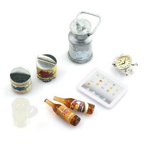 하비몬1/10 RC Crawler Camping Accessory Combo w/ Beer Bottle & Glass, Ipad, Tin Can, Metal Milk Can[상품코드]YEAH RACING