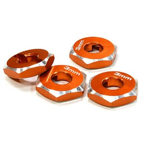 하비몬12mm Hex Wheel (4) Hub 3mm Thick for 1/10 Axial, Tamiya, TC & Drift (Orange)[상품코드]INTEGY