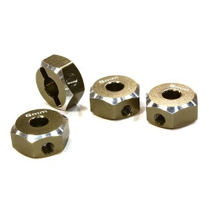 하비몬12mm Hex Wheel (4) Hub 6mm Thick for 1/10 Axial, Tamiya, TC & Drift (Gun)[상품코드]INTEGY