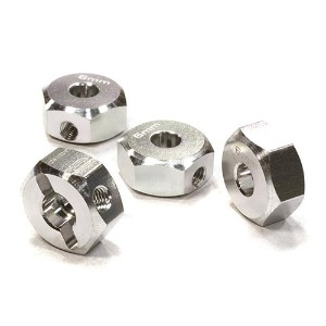 하비몬12mm Hex Wheel (4) Hub 6mm Thick for 1/10 Axial, Tamiya, TC & Drift (Silver)[상품코드]INTEGY