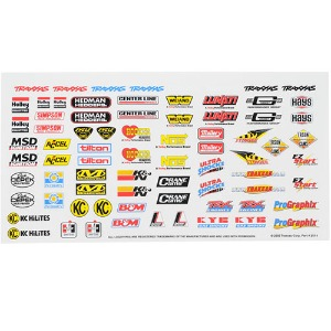 하비몬[#AX2514] Racing Sponsors Decal Sheet[상품코드]TRAXXAS